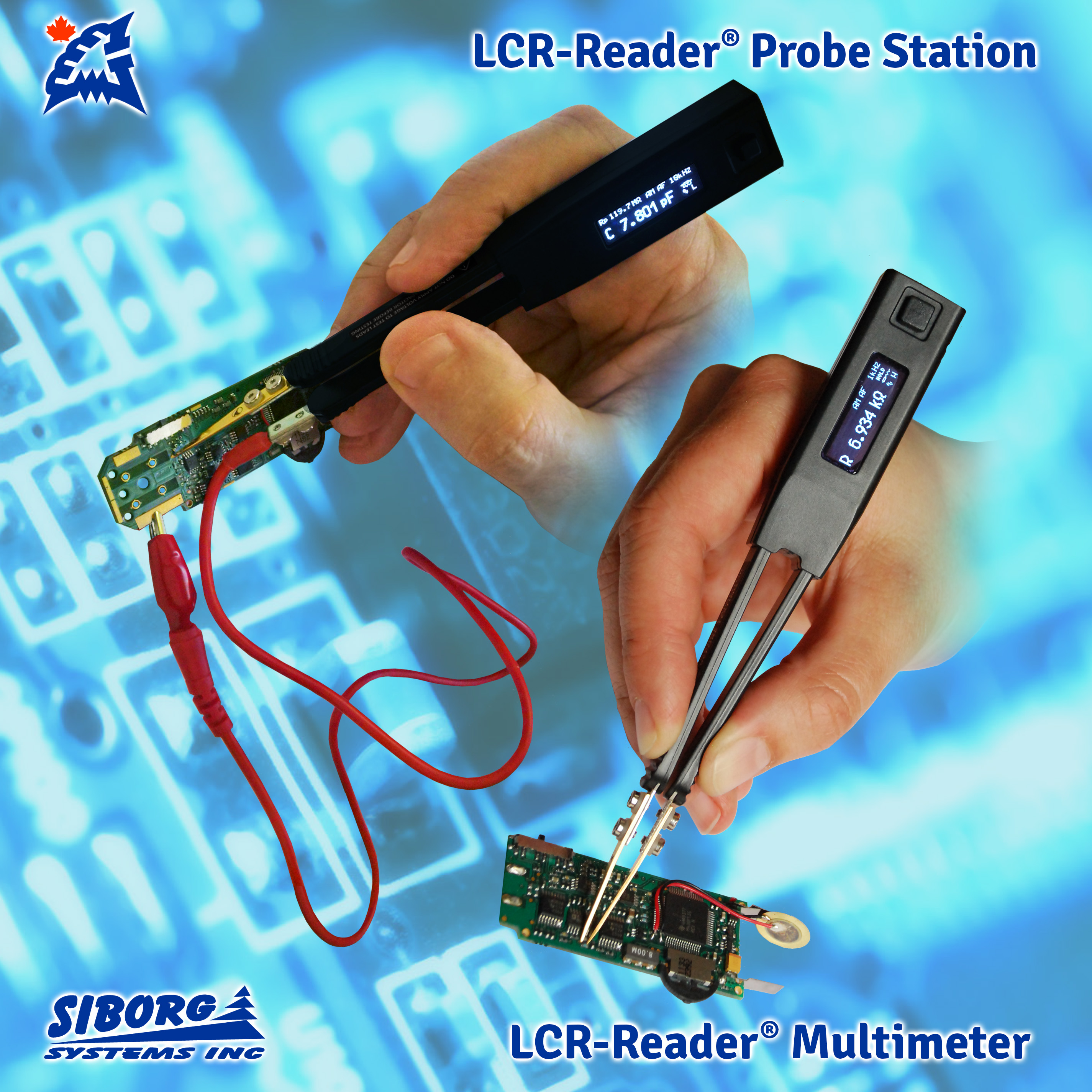Smart Tweezers and LCR-Reader Probe Connector for complete PCB probing